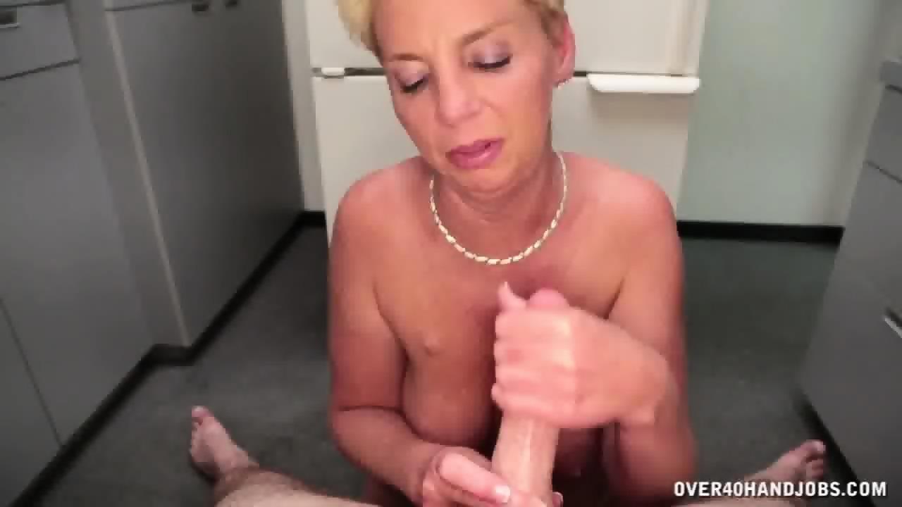 videos Mature handjob