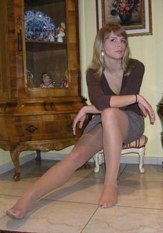 nylons Frauen in braunen
