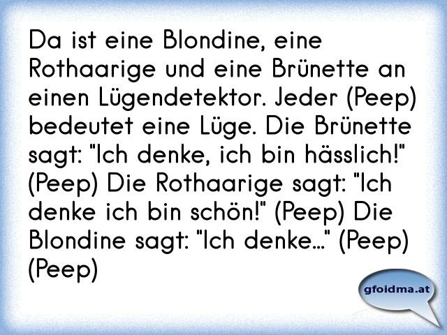 und brünette sprüche Blondine