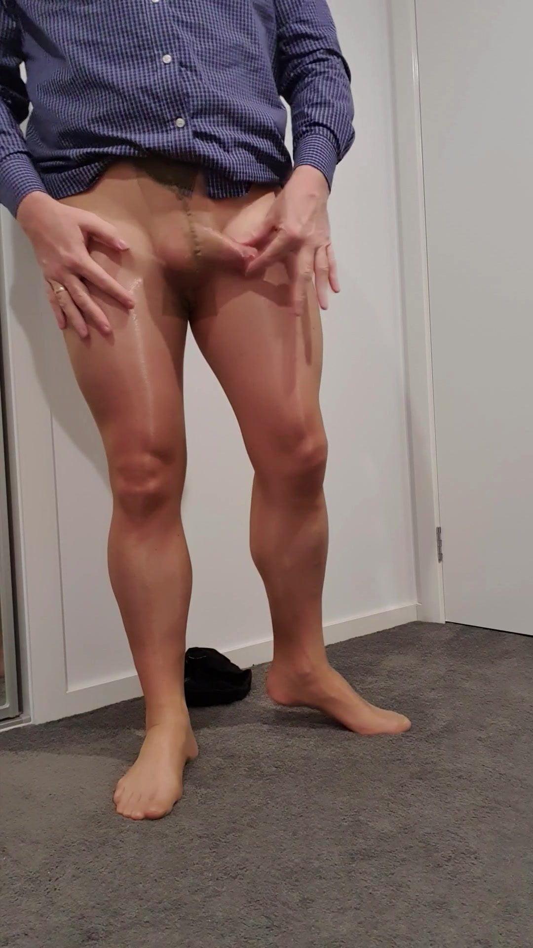porn Shiny pantyhose