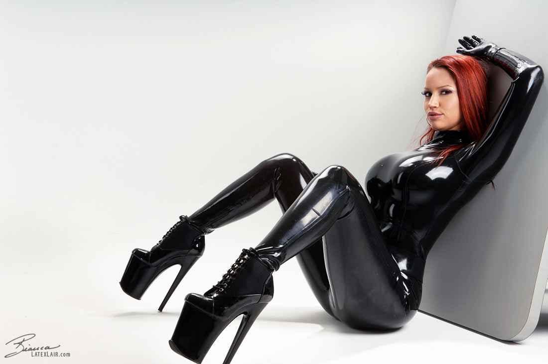 latex catsuit in Sex
