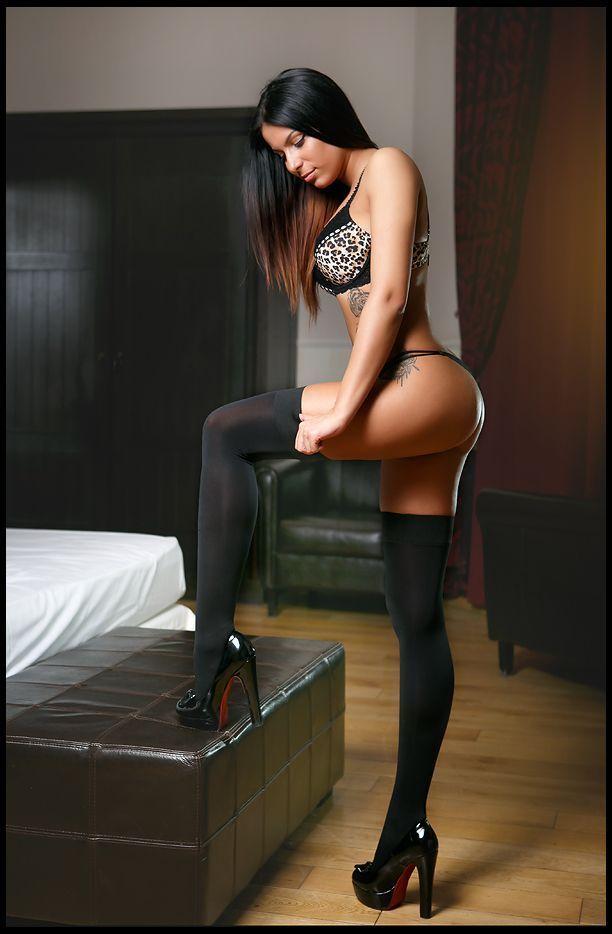 Girl in nylons
