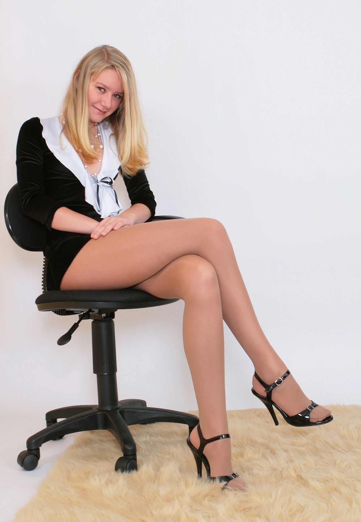 nylons Sexy beine in