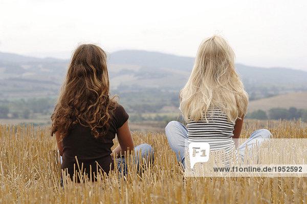 von Blondes hinten mädchen