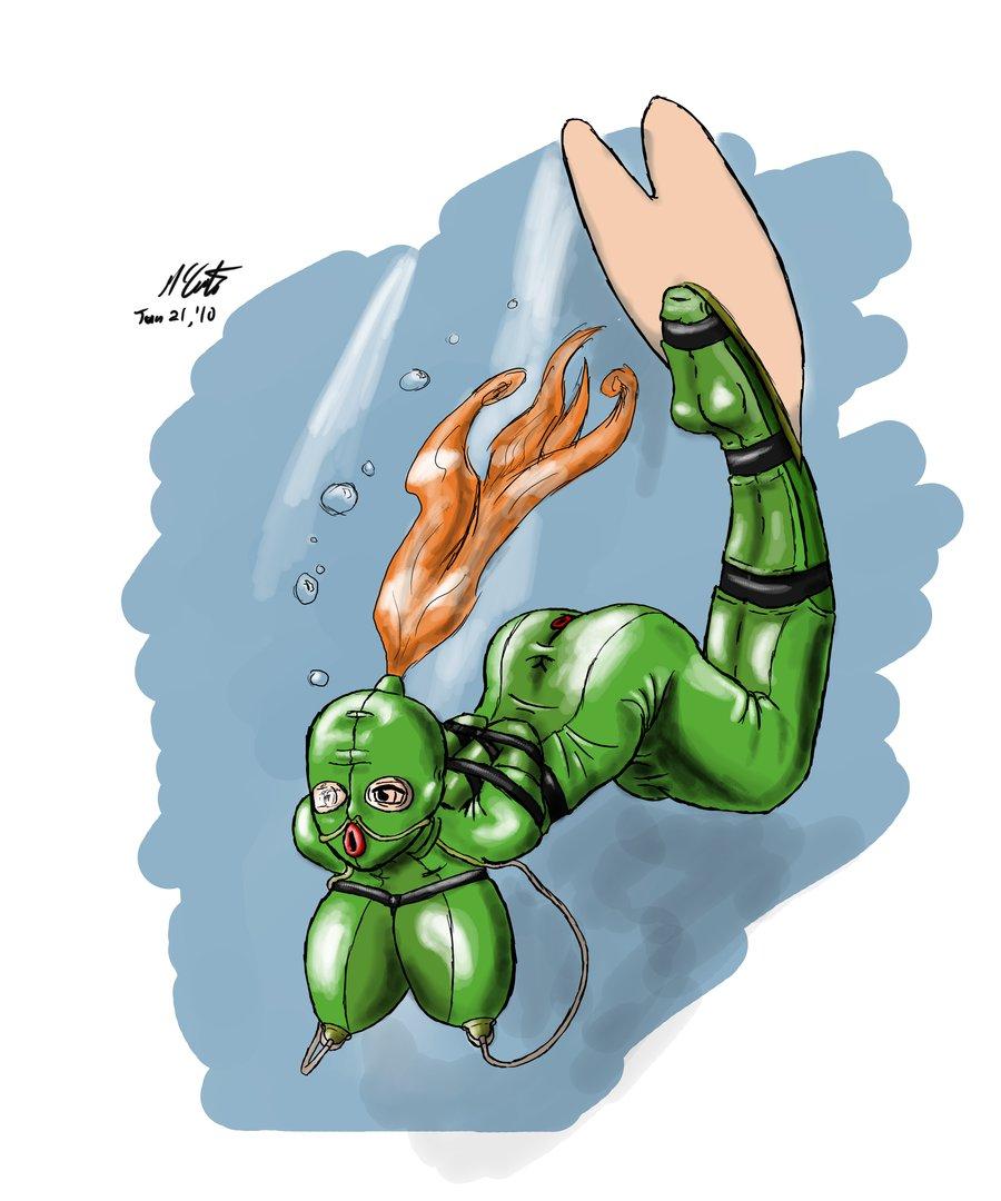 breathplay Underwater bondage