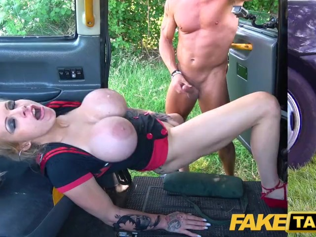 Fake taxi squirt
