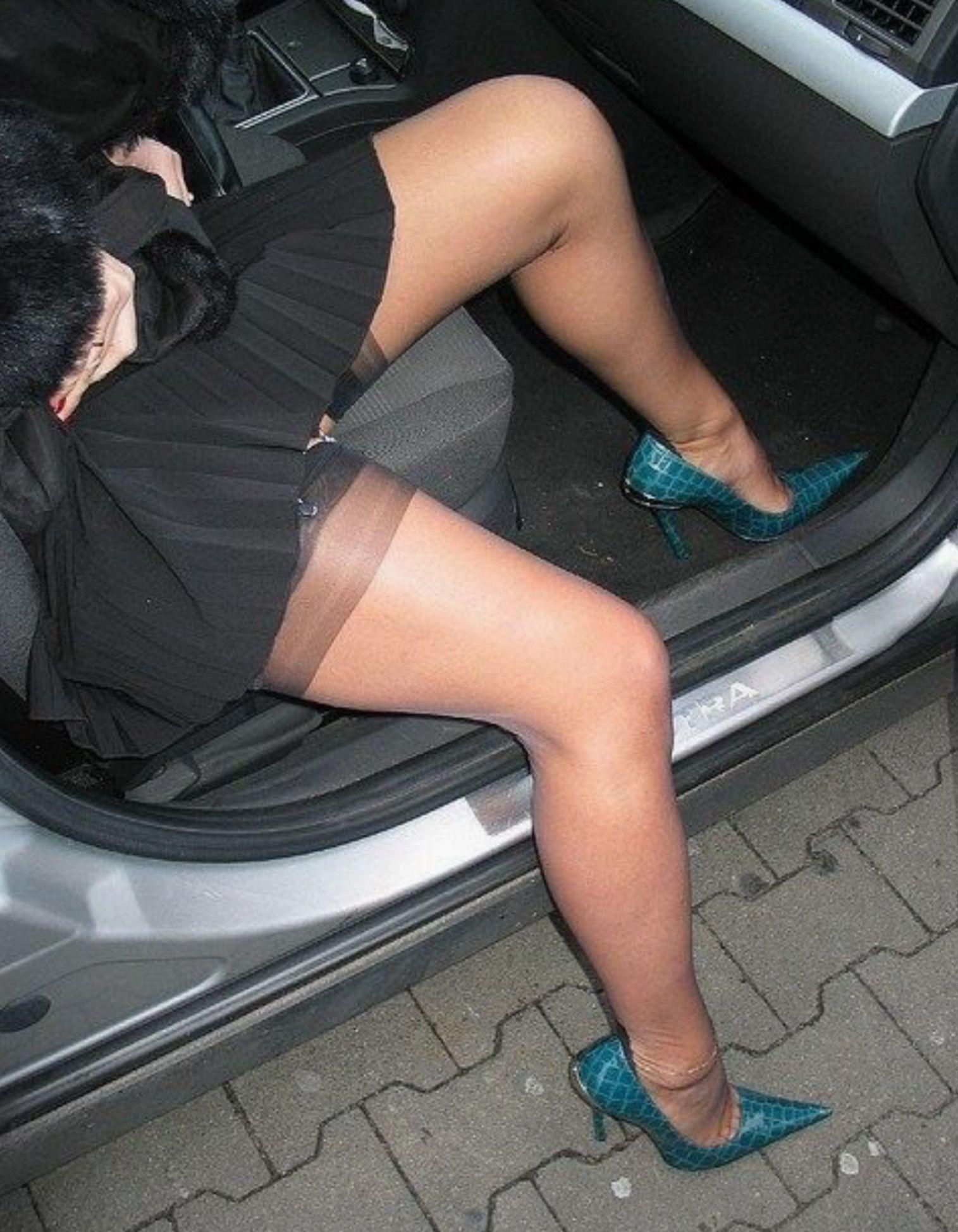 nylons Schöne beine in