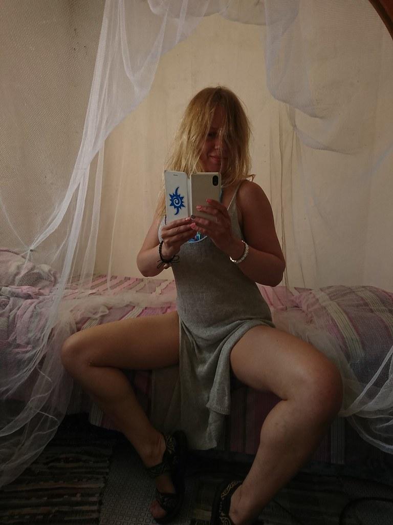 blonde selfie Sexy