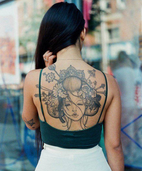 rücken Tattoo frau